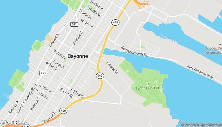 Map of 217 Lefante Way in Bayonne