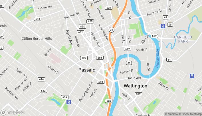 Mapa de 598 Main Ave en Passaic