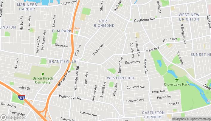 Mapa de 1411 Forest Ave en Staten Island
