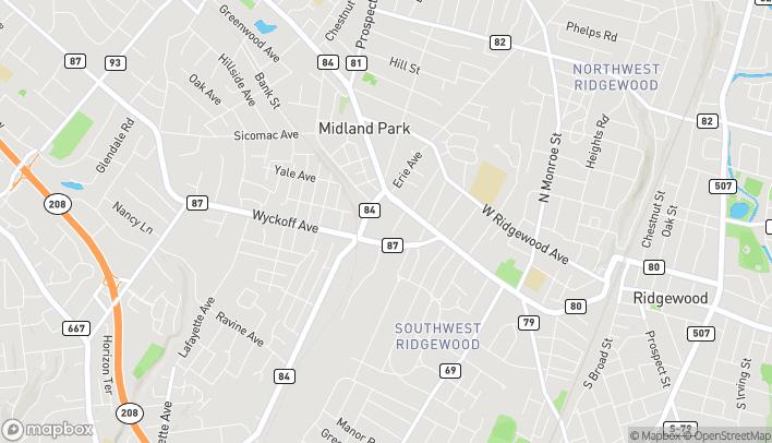 Mapa de 85 Godwin Avenue en Midland Park