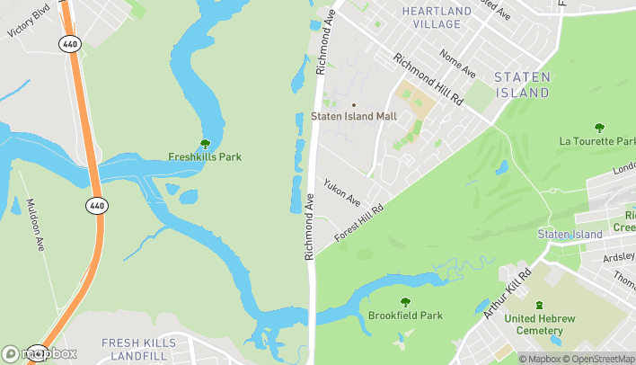 Map of 2865 Richmond Avenue in Staten Island