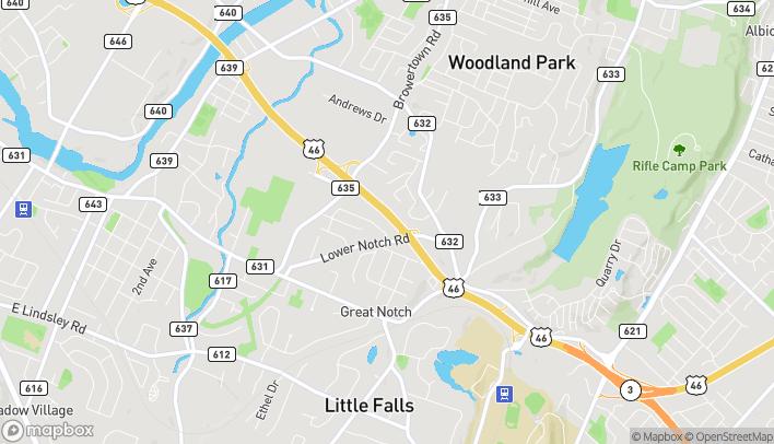 Mapa de 605 US Highway 46 East en Little Falls