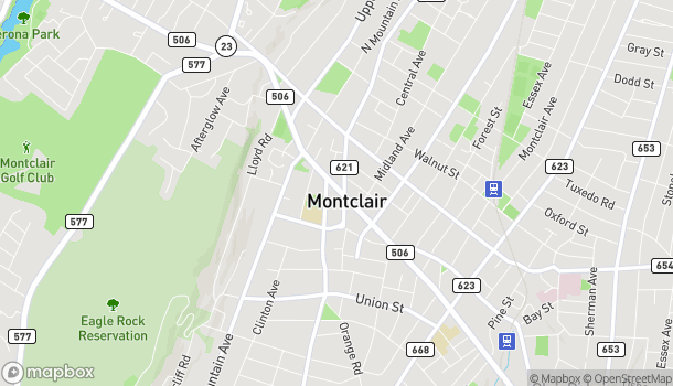 Map of 654 Bloomfield Avenue in Montclair