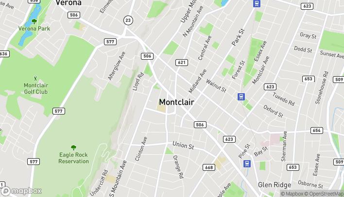 Mapa de 654 Bloomfield Avenue en Montclair