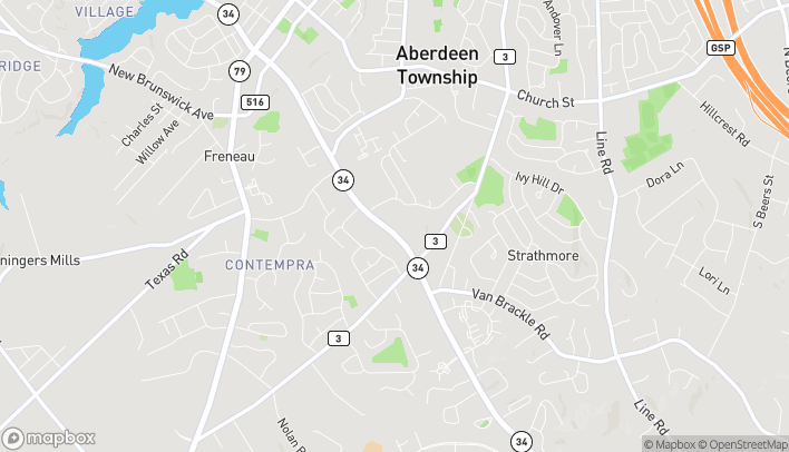 Map of 1121 State Route 34 in Matawan