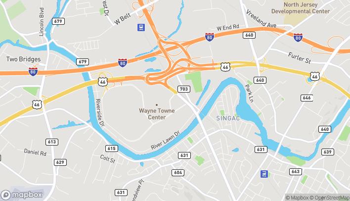 Map of 57 NJ Route 23 in Wayne