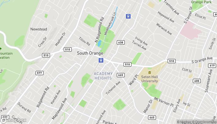 Mapa de 54 S Orange Ave en South Orange