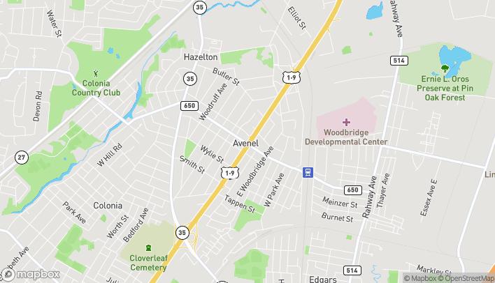 Map of 354 Avenel Street in Avenel