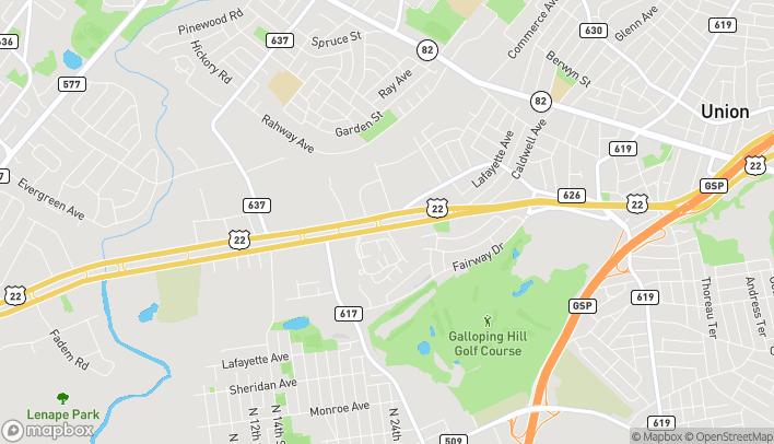 Mapa de 2268 US Highway 22 Ctr en Union