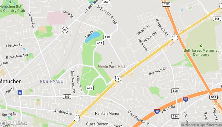 Map of 100 Menlo Park in Edison
