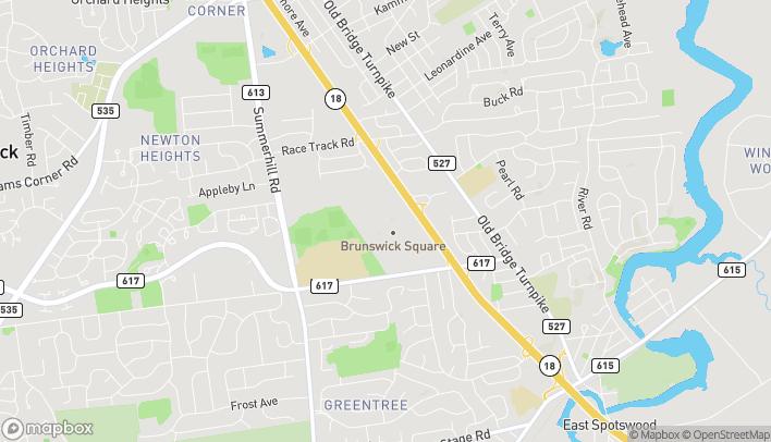 Mapa de 755 State Highway 18 South en East Brunswick