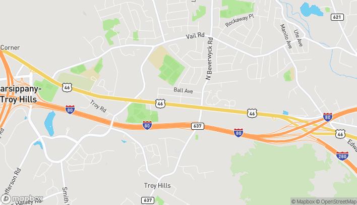 Mapa de 1180 Rt 46 West en Parsippany
