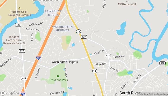 Mapa de 277 State Route 18 South en East Brunswick