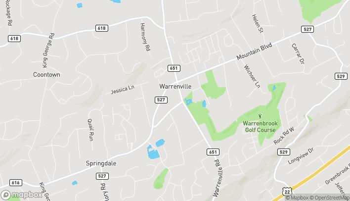 Mapa de 177 Washington Valley Road en Warren