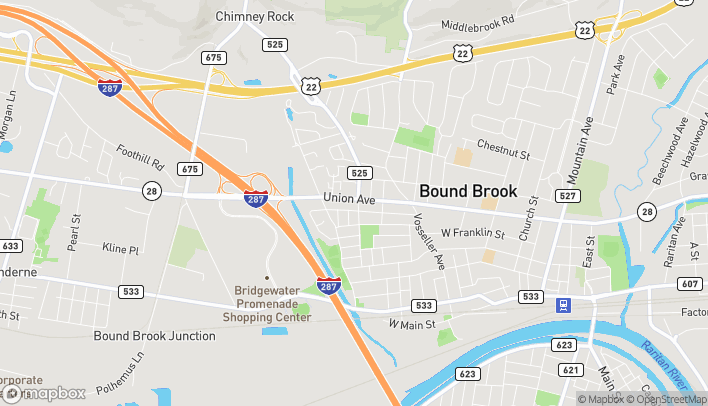 Mapa de 500 W Union Ave en Bound Brook