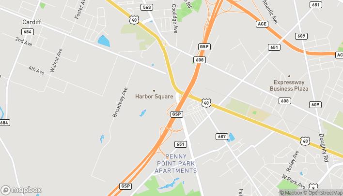 Mapa de 6727 Black Horse Pike en Egg Harbor Township