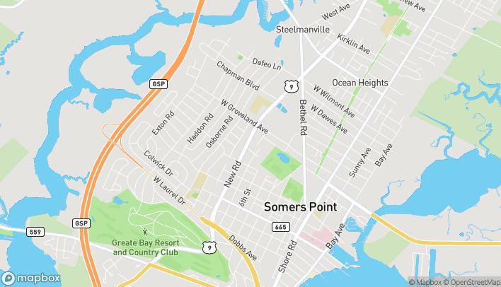 Mapa de 520 New Rd en Somers Point