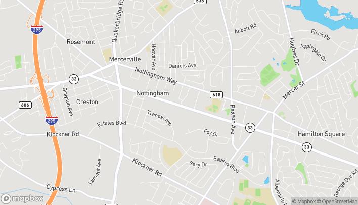 Mapa de 724 Route 33 en Hamilton