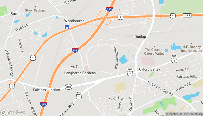 Map of 2300 E Lincoln Highway in Langhorne