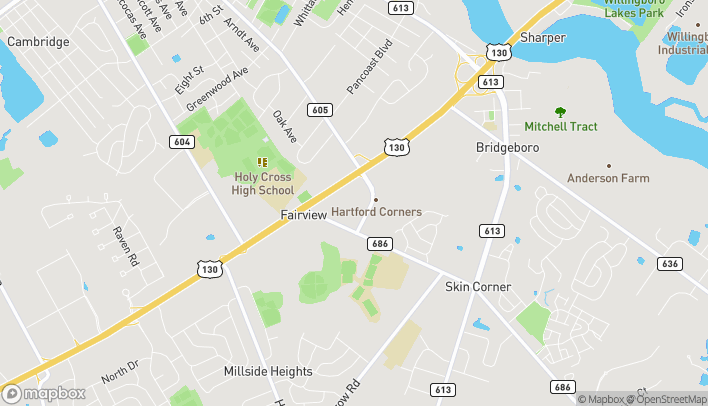 Mapa de 1320C Fairview Blvd en Delran
