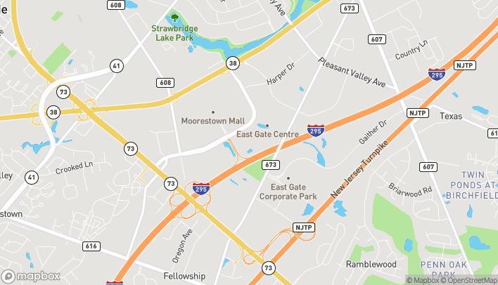 Mapa de 1400 Nixon Dr en Mt. Laurel