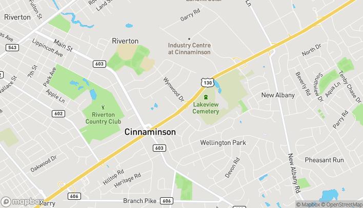 Mapa de 1253 Route 130 S en Cinnaminson