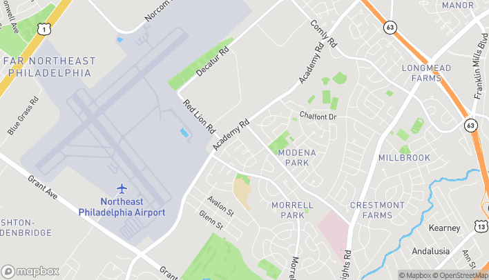 Map of 3236 Red Lion Rd in Philadelphia