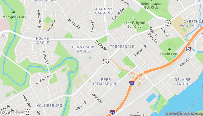 Map of 8920 Frankford Ave in Philadelphia