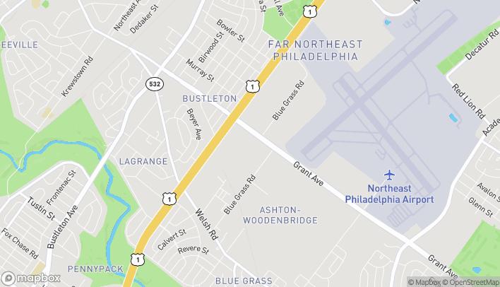 Map of 2550 Grant Ave in Philadelphia