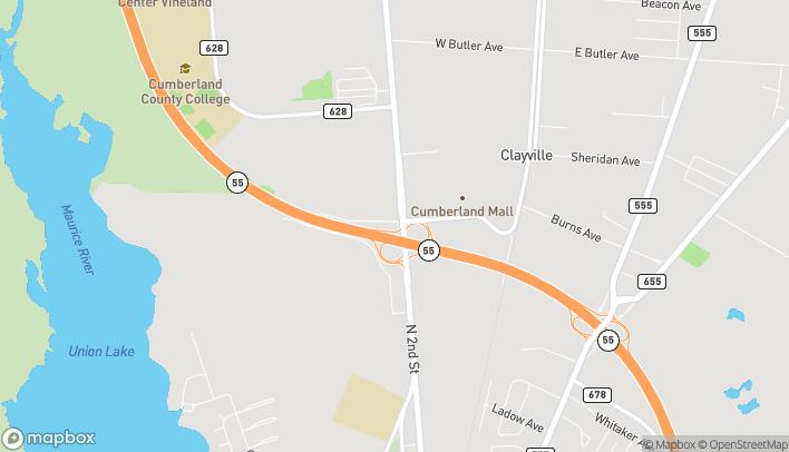 Mapa de 2500 North 2nd Street en Millville