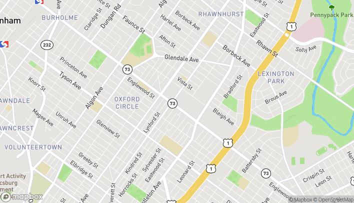 Map of 2107B Cottman Ave in Philadelphia