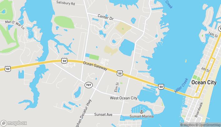 Mapa de 12641 Ocean Gateway en Ocean City