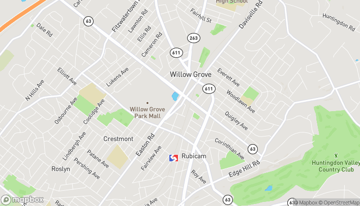 Map of 1939 Easton Rd in Willow Grove