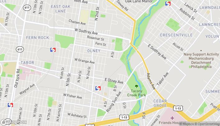 Map of 101 E Olney Ave in Philadelphia