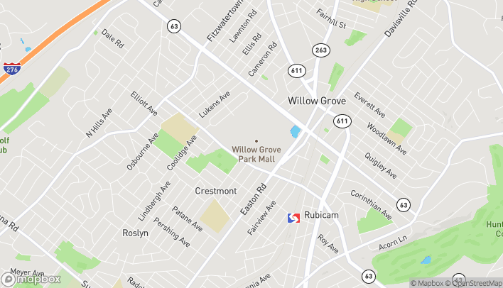 Map of 2500 W Moreland Rd in Willow Grove