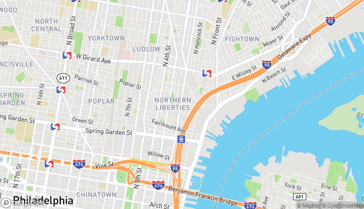 Map of 937 N 2nd Street in Philadelphia