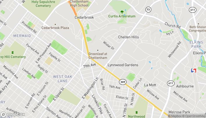 Map of 2401 W Cheltenham Ave in Wyncote