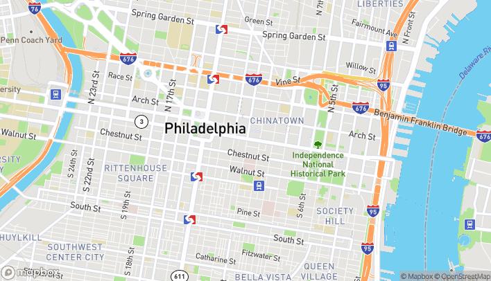 Map of 1100 Market St in Philadelphia