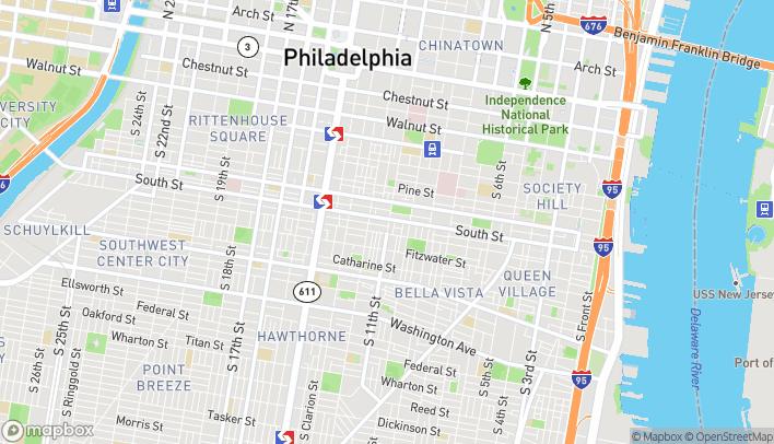Map of 1100 South Street in Philadelphia