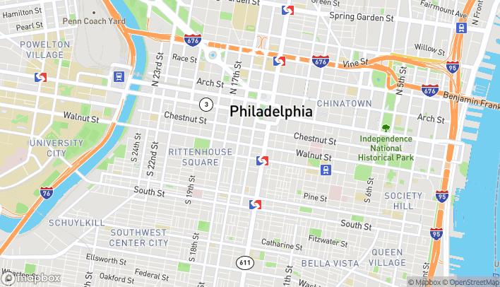 Map of 1501 Walnut St in Philadelphia