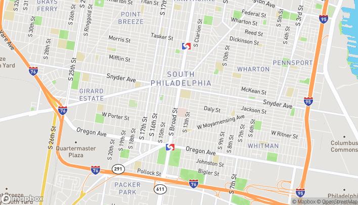 Map of 2201 S Broad St in Philadelphia