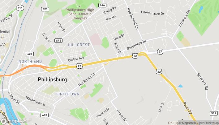 Mapa de 756-768 Memorial Pkwy en Phillipsburg