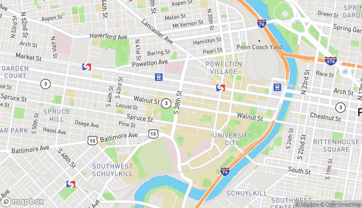 Map of 3741 Walnut St in Philadelphia