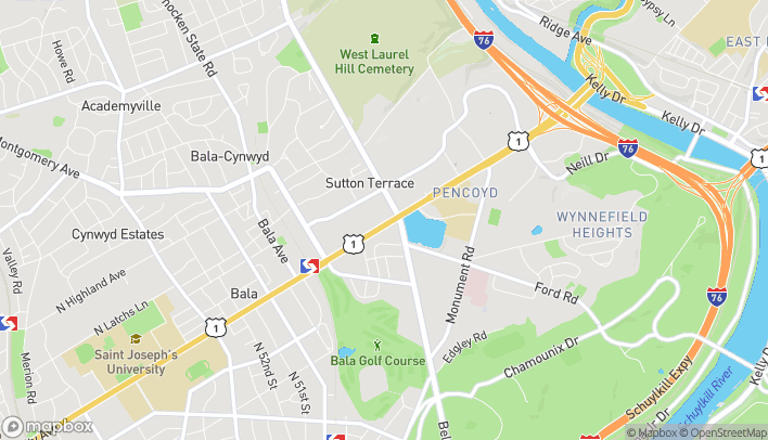Map of 161 E City Ave in Bala Cynwyd