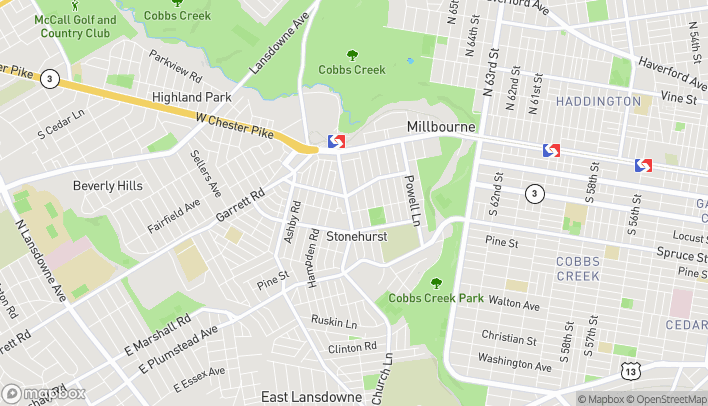 Map of 117 South 69th Street in Upper Darby