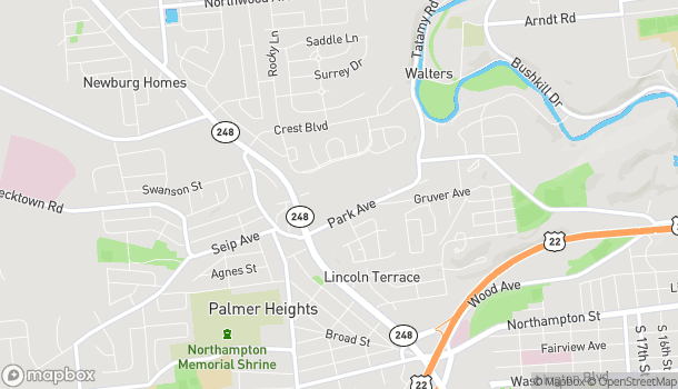 Map of 2455 Park Avenue in Easton
