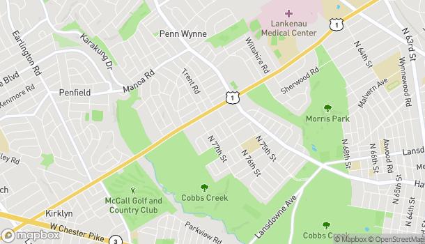 Map of 7628 City Ave in Philadelphia