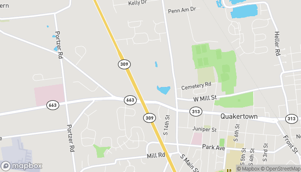 Map of 1465 W Broad St in Quakertown