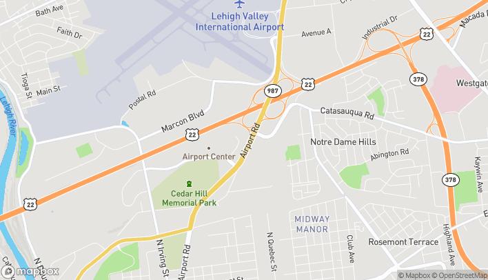 Map of 1874 Airport Road in Allentown