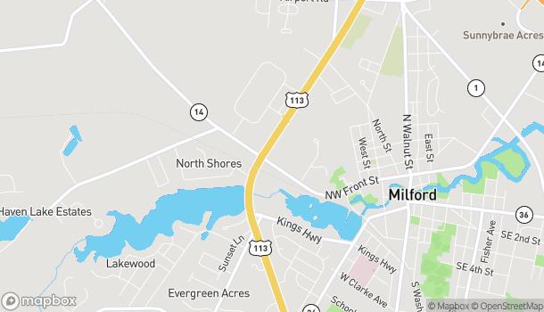 Map of 614 N Dupont Blvd in Milford